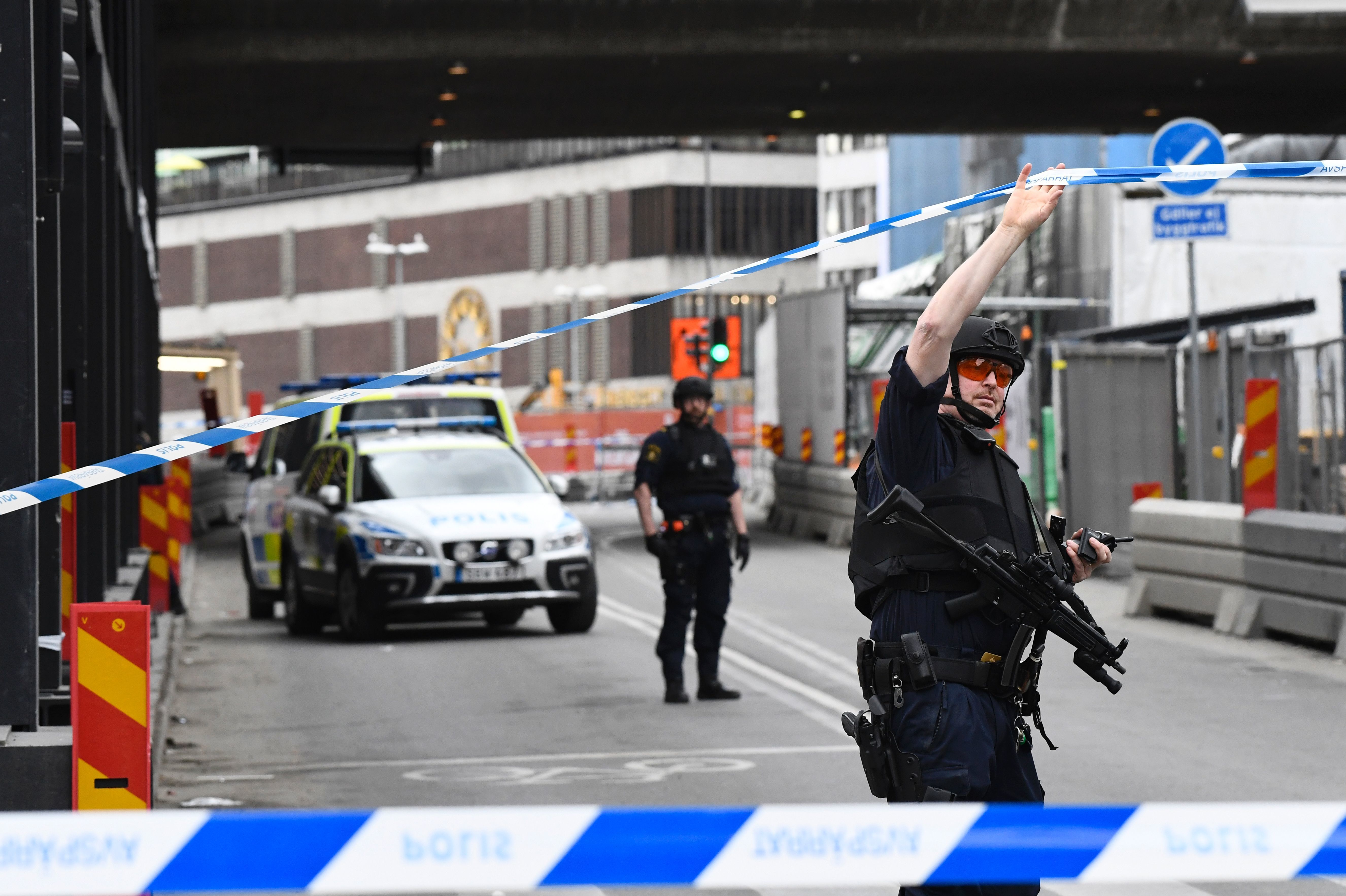 Vehicle crashes into crowd on Stockholm street, 3 dead