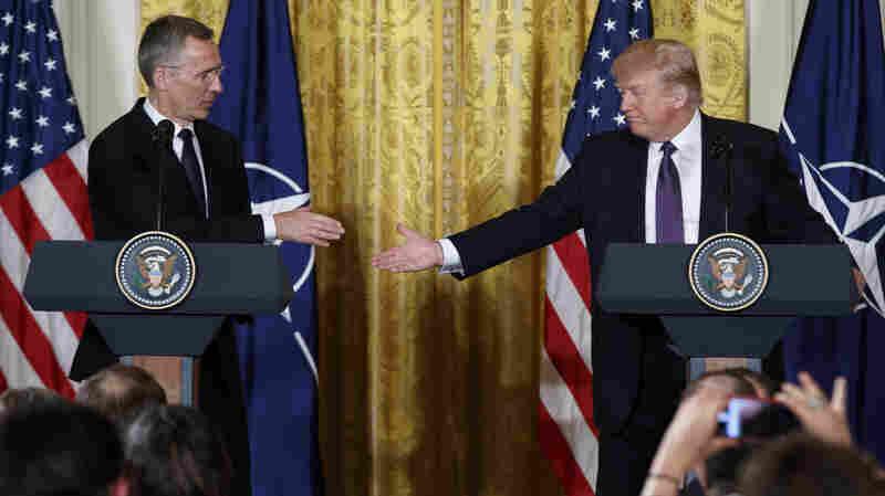 Trump, In A 180-Degree Switch, Says NATO 'No Longer Obsolete'
