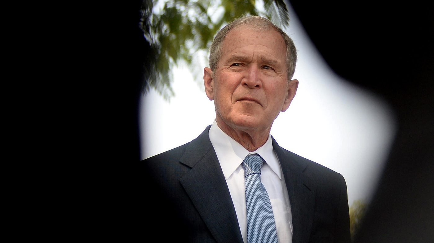 Former President George W. Bush On Foreign Aid, Immigration And 'Portraits Of Courage' : NPR