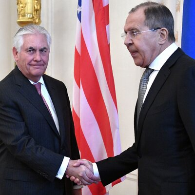 Putin Receives Tillerson At Kremlin As Russia Warns U.S. Not To Strike Syria Again