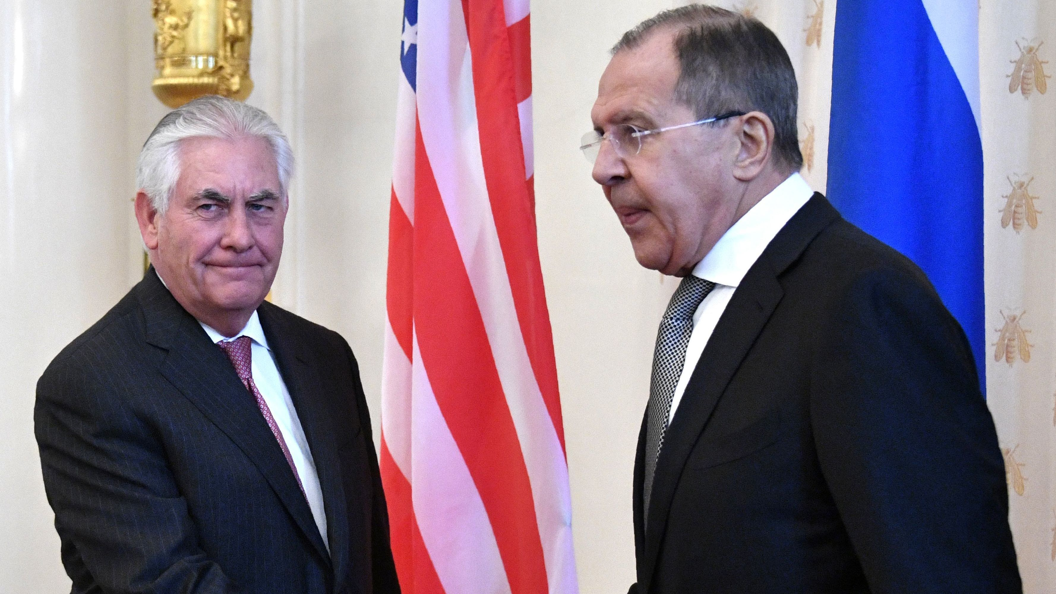 Russian Federation  and United States of America , after Tillerson talks, agree modest steps to mend ties