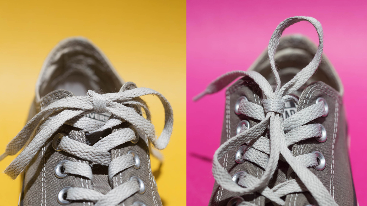 Study Explains Why Shoelaces Come Untied Shots Health News Npr How To Diagram Of Tie Shoes