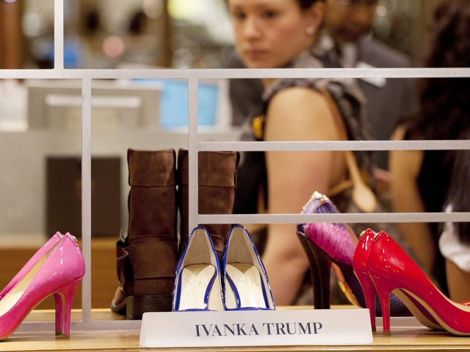 One of Grab Your Wallet's biggest targets is Ivanka Trump and companies that sell her fashion line of clothes, jewelry, shoes and accessories. (Mark Lennihan/AP)