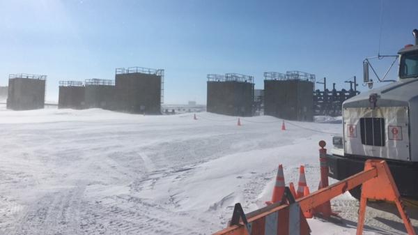 A BP oil well near Deadhorse, Alaska was misting natural gas on Alaska