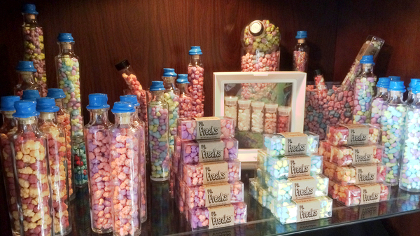 The Eugene J. Candy Co., which opened a year ago in Brooklyn, stocks offbeat novelties like wax fangs as well as its own experimental confections.