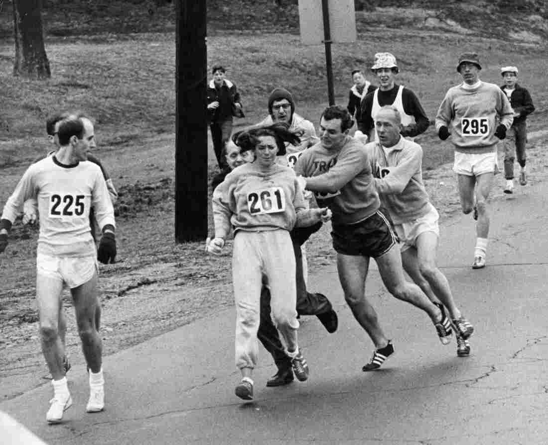 Watch Kathrine Switzer Cross the 2017 Boston Marathon Finish Line