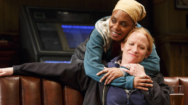 Michelle Wilson and Johanna Day star in Sweat, the Pulitzer Prize-winning play by Lynn Nottage.