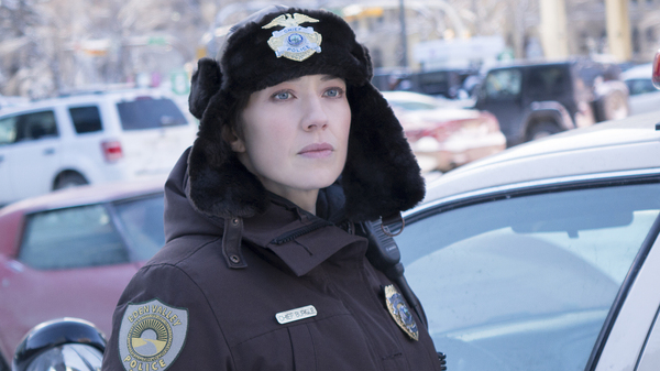 Carrie Coon plays Gloria Burgle in the third season of the series Fargo, which premiers on FX Wednesday.