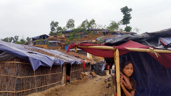 Some 2,000 Rohingya refugee families live in the Balukhali camp in southern Bangladesh, according to the camp