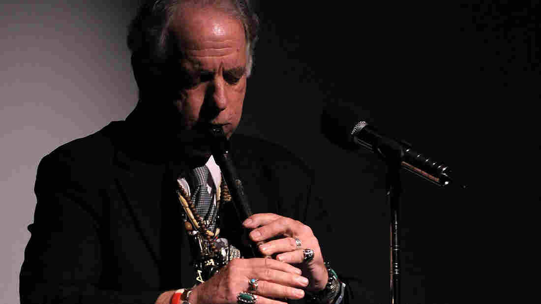 David Amram performs during a memorial service for Frank McCourt at Symphony Space on October 6, 2009 in New York City.