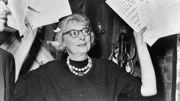 Jane Jacobs commandeering a city planning meeting.