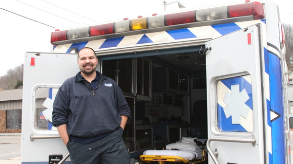 After David Wiley was laid off from the gruelling day to day of the coal mining industry, he found a new livelihood working for STAT EMS in Pineville, West Virginia.