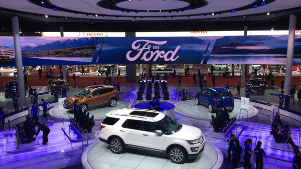 The Ford Motor Co. display at this year