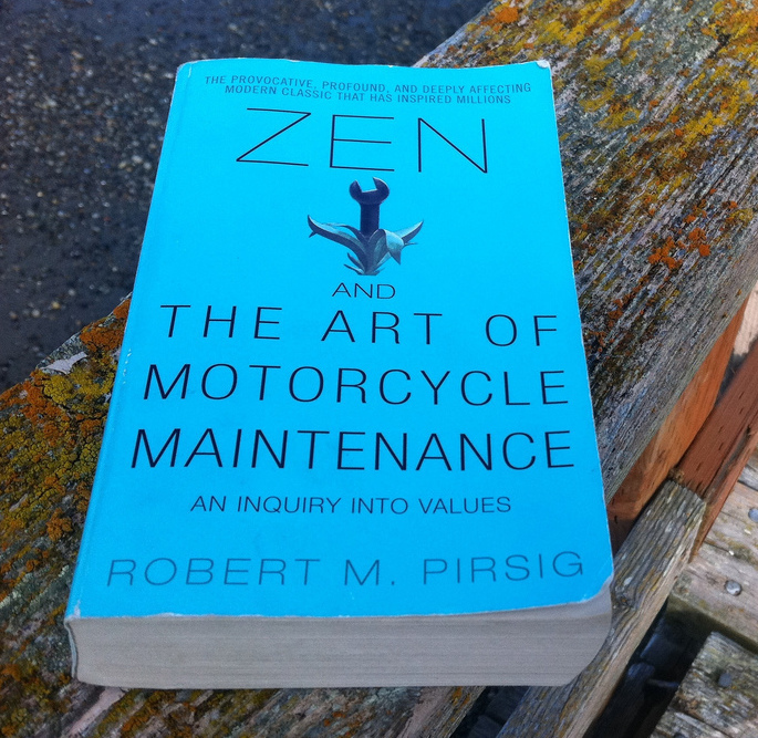 Zen and the Art of Motorcycle Maintenance ~ Photo credit: Alan Levine/Flickr