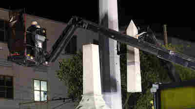 Under Cover Of Night, New Orleans Begins Dismantling Confederate Monuments