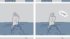 Mono-toe-ny: A page from Guy Delisle's <em>Hostage</em>.