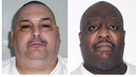 This combination of undated file photos provided by the Arkansas Department of Correction shows death-row inmates Jack Jones Jr., left, and Marcel Williams. The two Arkansas inmates were put to death Monday, in the nation's first double execution in more than 16 years.