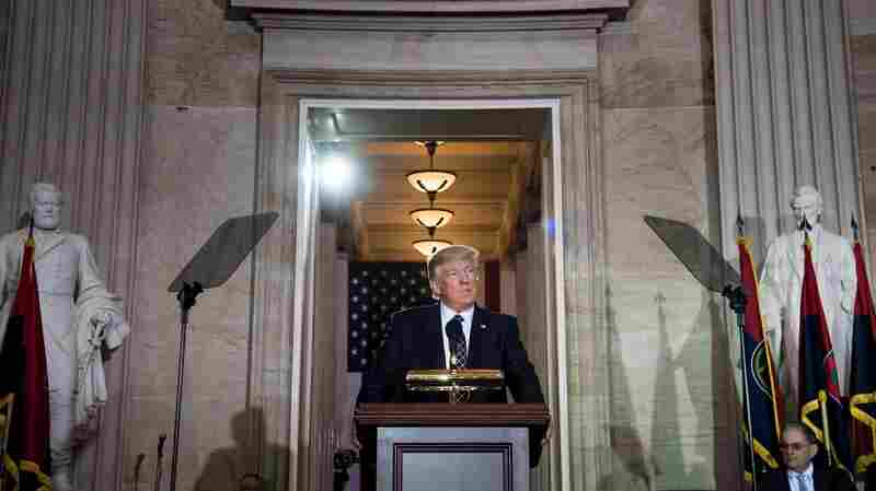 At Holocaust Remembrance Ceremony, Trump Vows To Confront Anti-Semitism