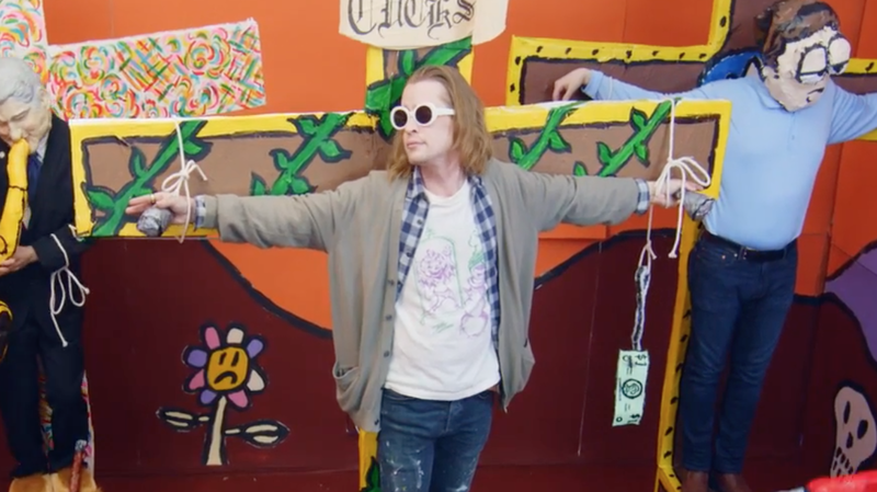 Father John Misty Casts Macaulay Culkin As Kurt Cobain In New Video