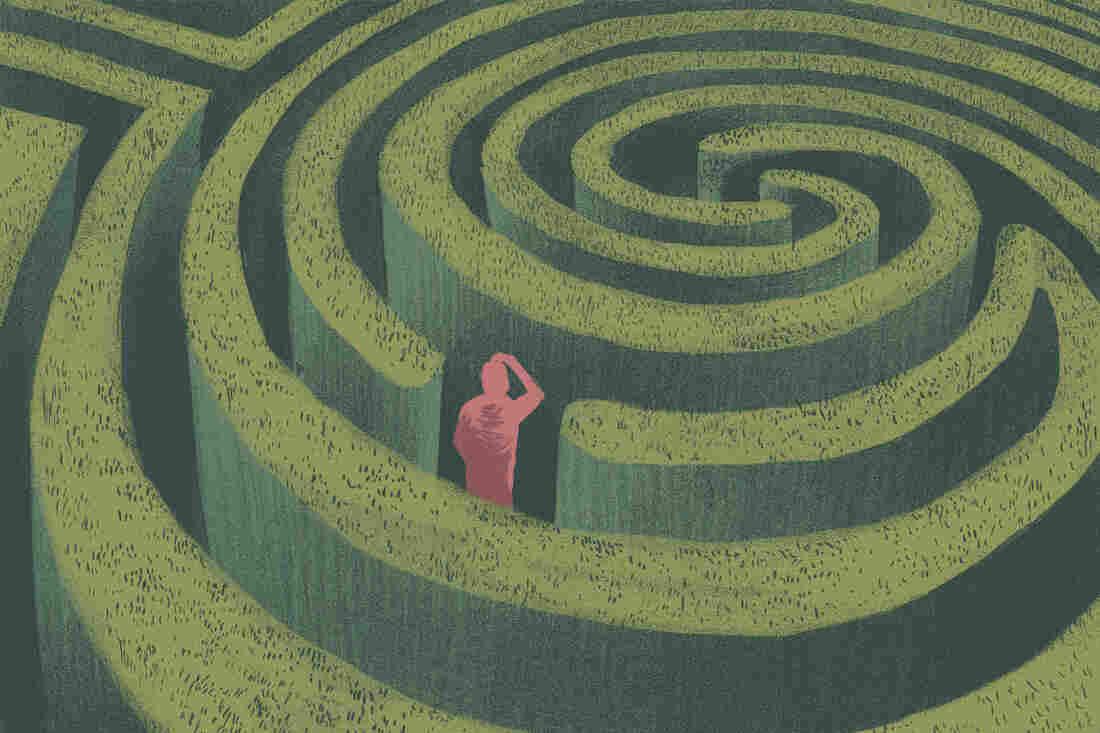 A man in a maze
