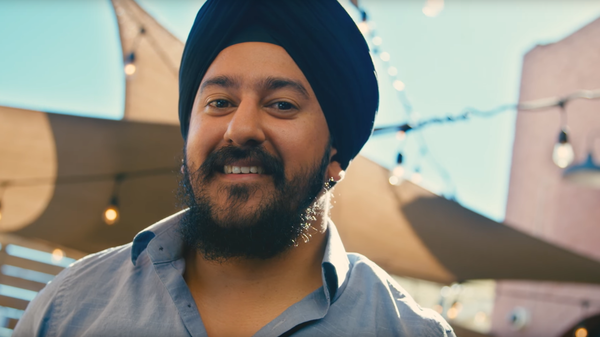 A screenshot from a video about the Sikh community that is part of a large awareness campaign. The project was funded entirely by grass-roots donations. The campaign