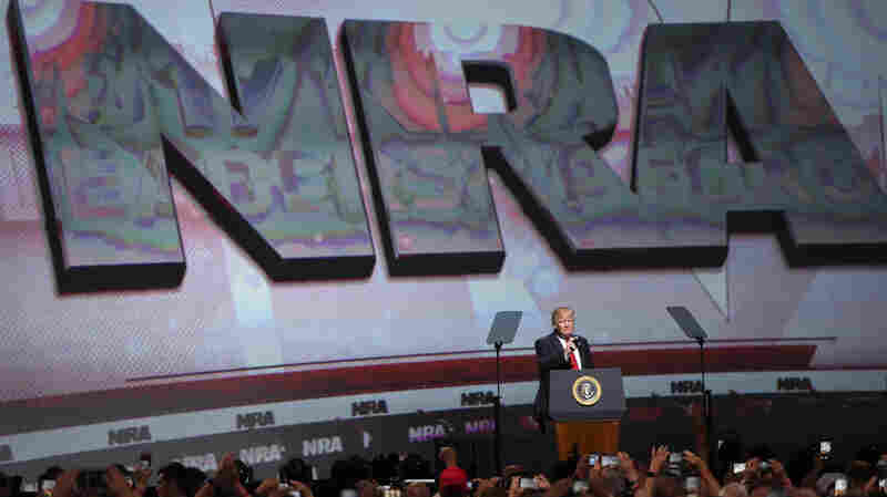 Trump Brings Campaign Rhetoric To NRA Speech, Pledging Gun-Rights Support