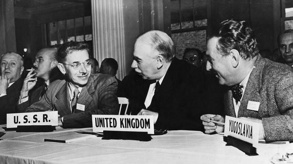 English economist John Maynard Keynes attends the United Nations International Monetary and Financial Conference at the Mount Washington Hotel in New Hampshire.
