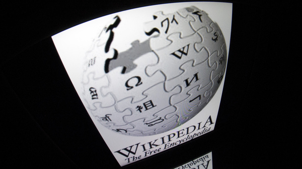 "The ""Wikipedia"" logo seen on a tablet screen. On Saturday, April 29, the site was blocked in Turkey. AFP PHOTO / LIONEL BONAVENTURE (Photo credit should read LIONEL BONAVENTURE/AFP/Getty Images)"