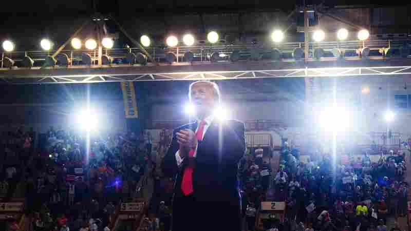 Trump Stars On Stage He Built Himself, Far From Washington