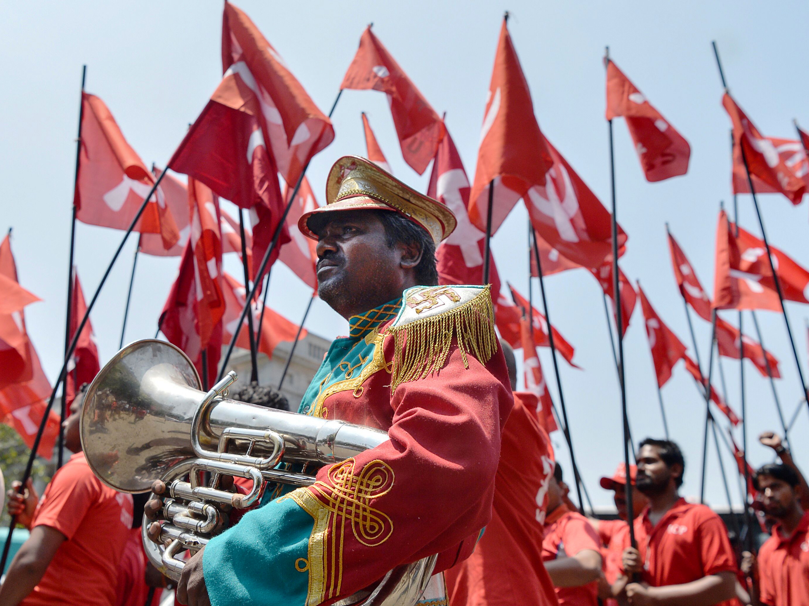 May Day Marchers Around The World Celebrate Workers