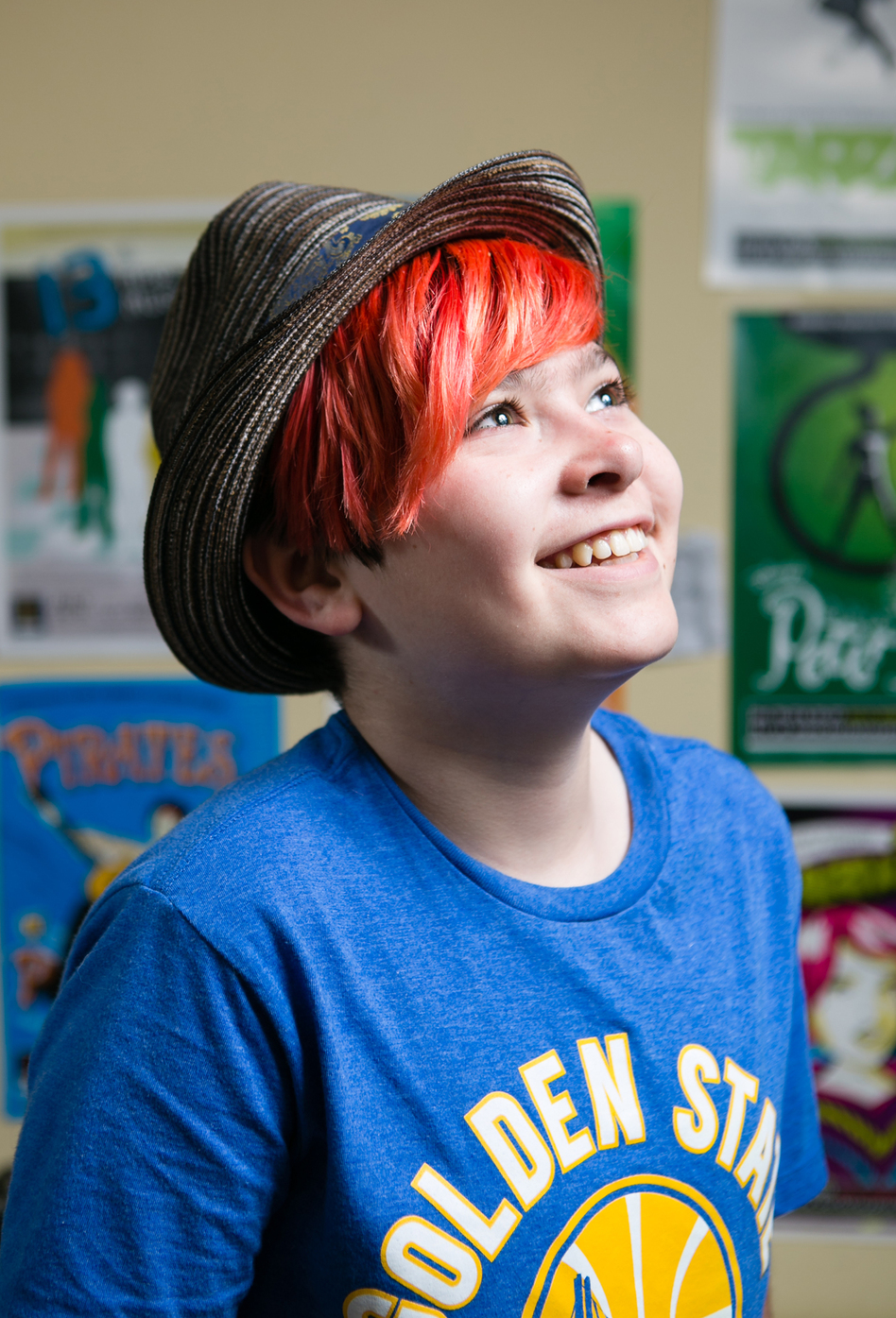 Max, 13 years old, identifies as agender — neither male nor female. (Bert Johnson/KQED)