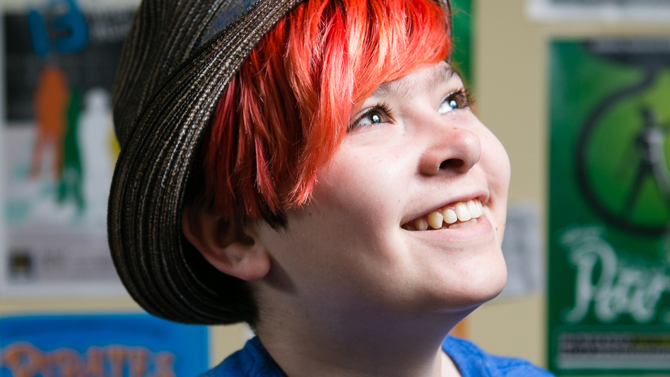 Max, 13 years old, identifies as agender — neither male nor female.