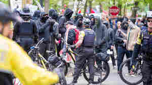 Portland Police Arrest 25, Saying A May Day Rally Devolved Into 'Riot'