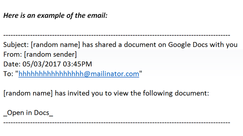 Did You Get A Weird Invitation To Edit A Google Doc? It's Best Not To Click