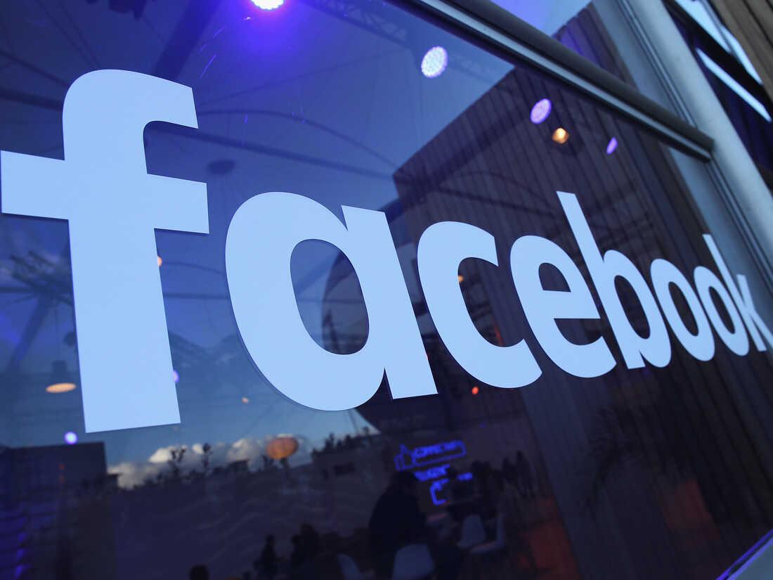 The Facebook logo, displayed in Berlin in 2016.