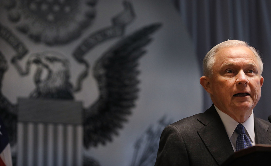 An advocacy group says a move at the Drug Enforcement Administration to hire prosecutors is another signal of how the Justice Department is changing under Attorney General Jeff Sessions. (Spencer Platt/Getty Images)