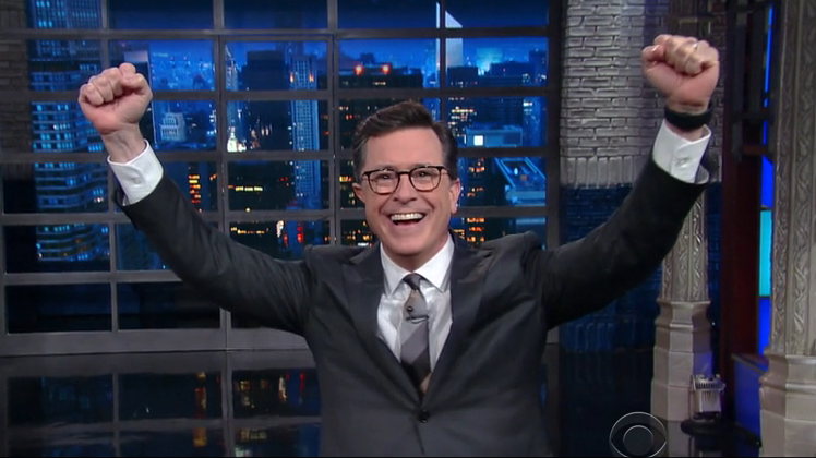 Colbert Addresses #FireColbert Campaign, But Doesn't Apologize