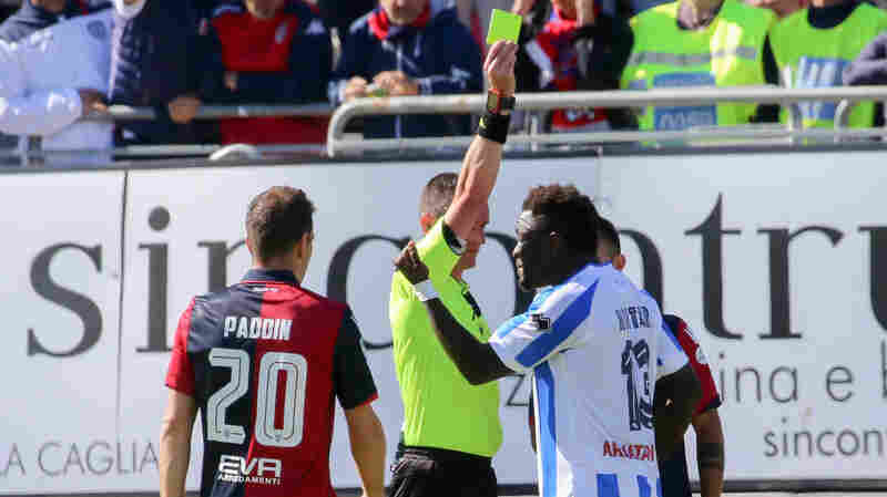 Soccer Player Protests Racial Taunts — And The Ref Punishes Him