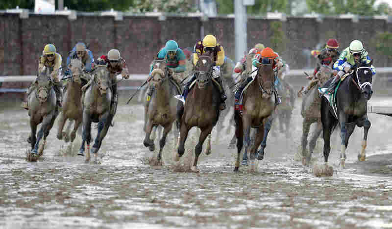 John Velazquez pulled through the slop Always Dreaming to win his second Derby, following his 2011 victory riding Animal Kingdom.