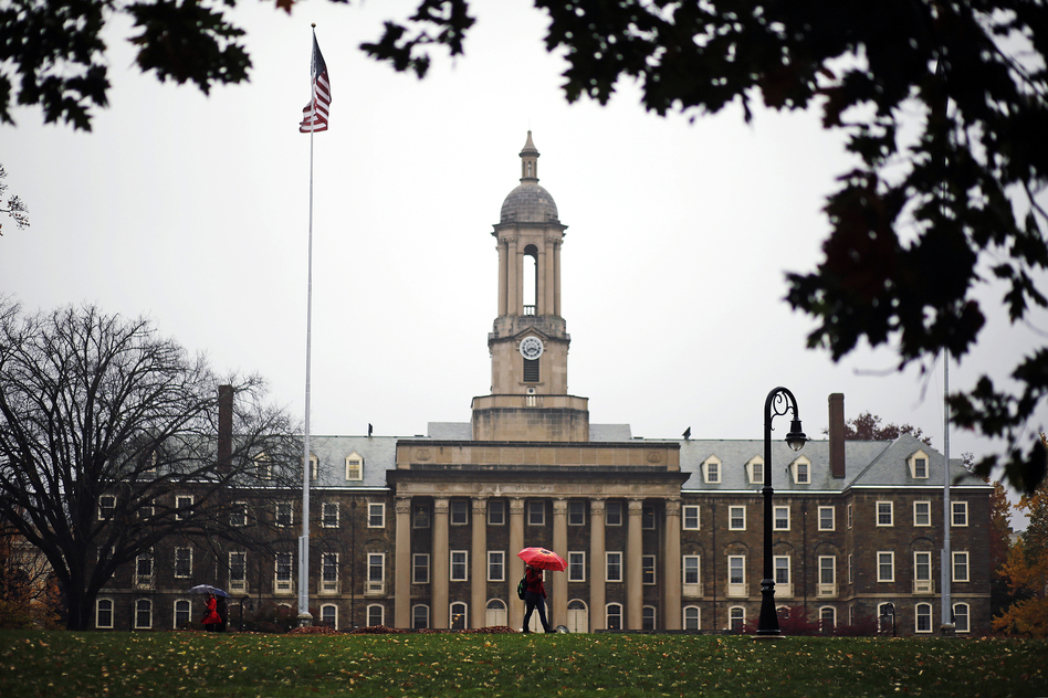 Administrators at Penn State's main campus in State College, Pa., had already banned Beta Theta Pi after the hazing death of a pledge, which has resulted in involuntary manslaughter charges. (Gene J. Puskar/AP)