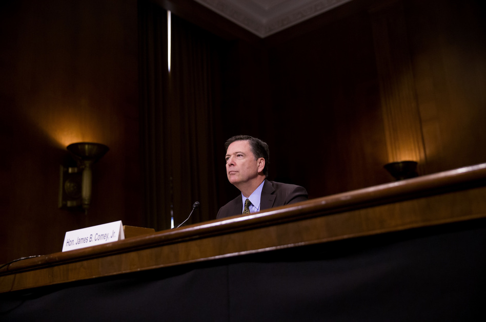 FBI Director James Comey testifies in front of the Senate Judiciary Committee on May 3 during an oversight hearing on the FBI. Comey was terminated from his position Tuesday. (Eric Thayer/Getty Images)