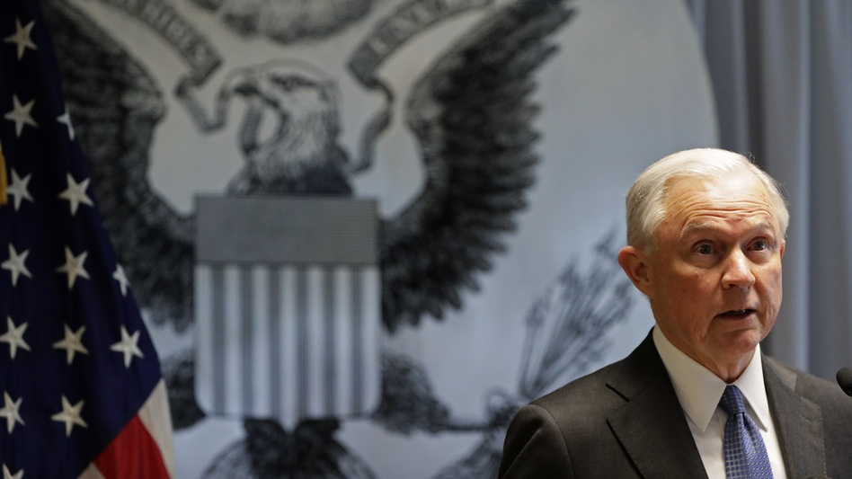 Attorney General Jeff Sessions is interviewing potential candidates for interim FBI director Wednesday, despite his pledge to recuse himself from Trump campaign-related FBI investigations. (Frank Franklin II/AP)