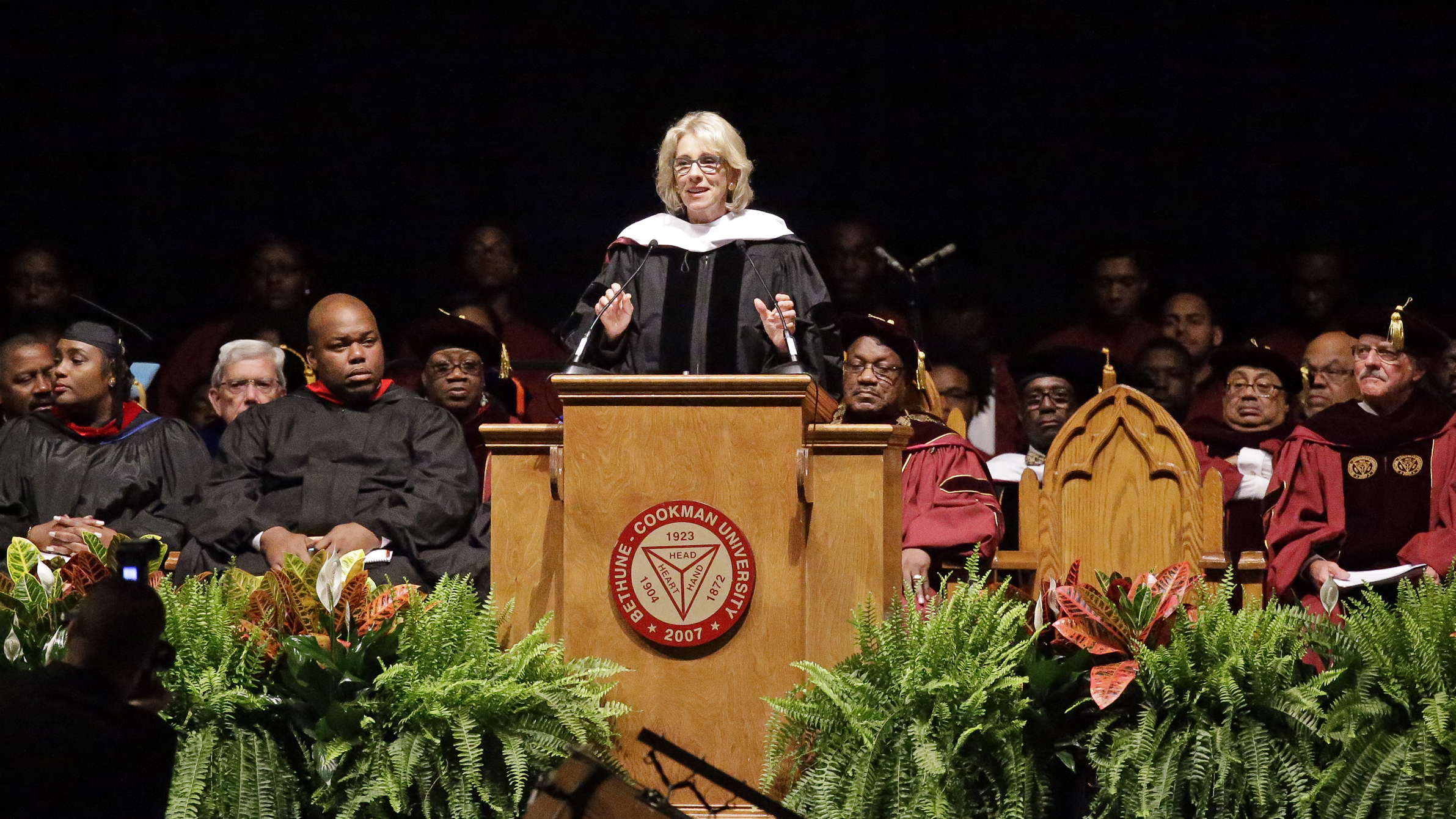 WATCH: Betsy DeVos Speaks Over Torrent Of Boos During Bethune-Cookman Speech