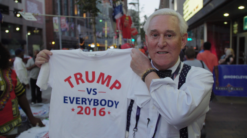 "Roger Stone has been ""indispensable ... to virtually every bigwig in Republican politics since Nixon,"" says filmmaker Morgan Pehme. (Netflix)"