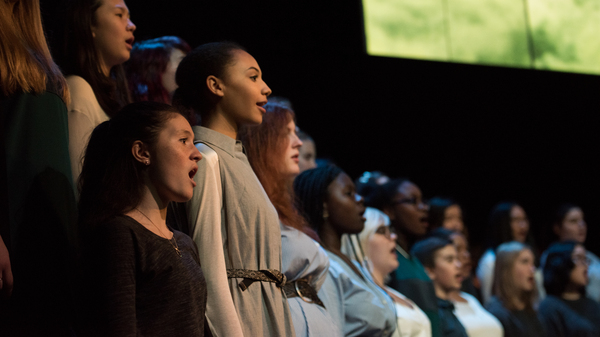 The Brooklyn Youth Chorus performs Silent Voices, a multi-composer work that addresses social concerns articulated by the young singers themselves.