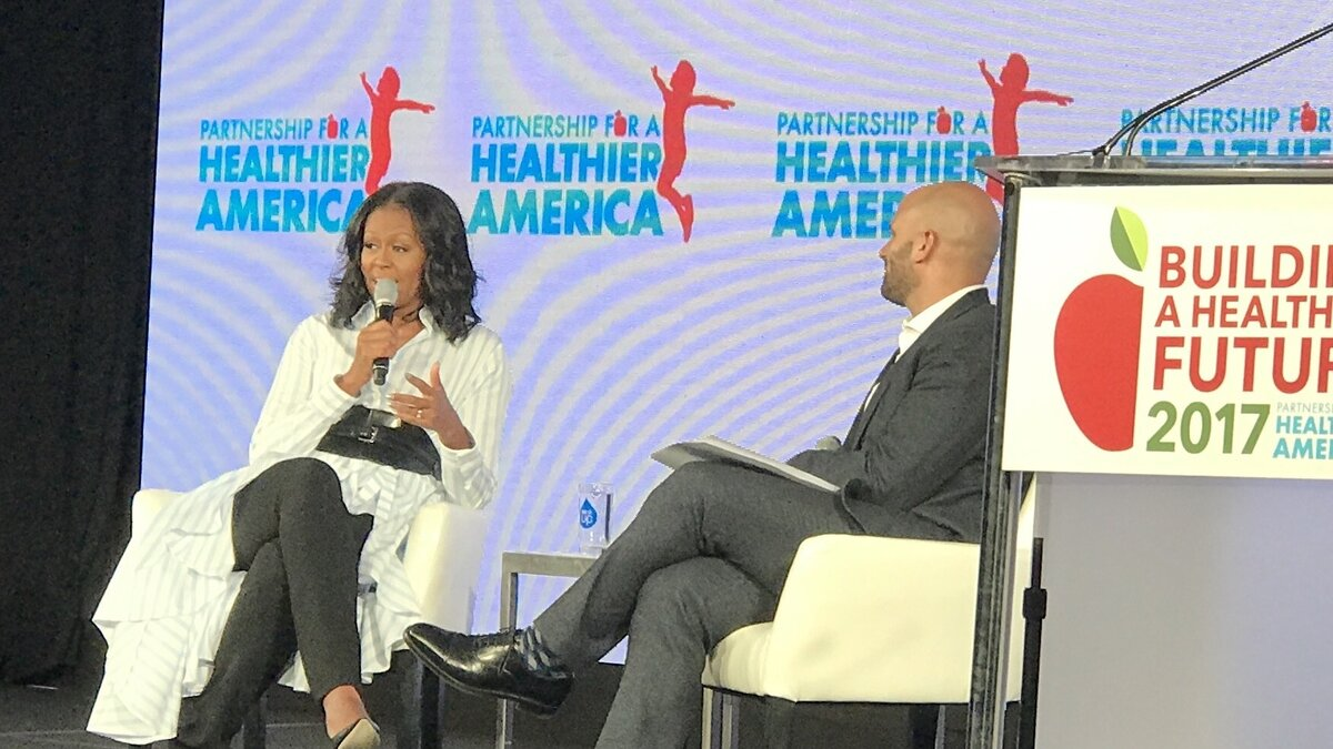 Michelle Obama slams Trump over school lunch changes