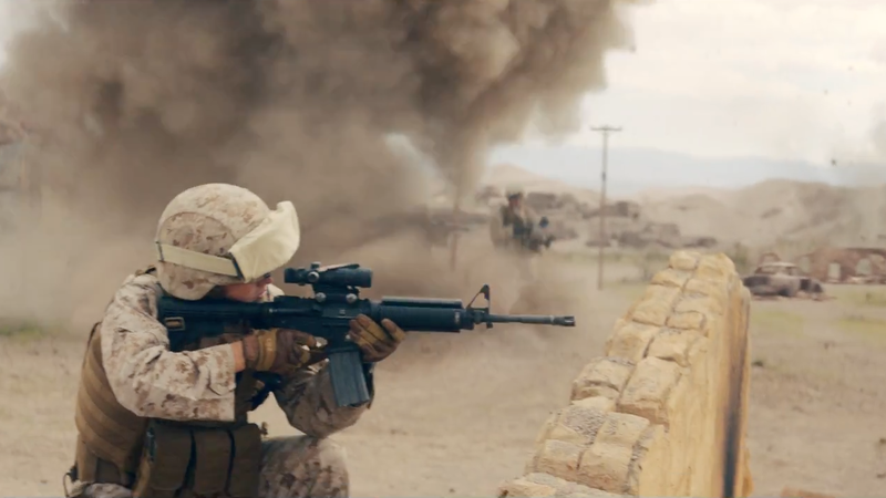 Marines Release First-Ever Ad Spotlighting Woman In Combat Position