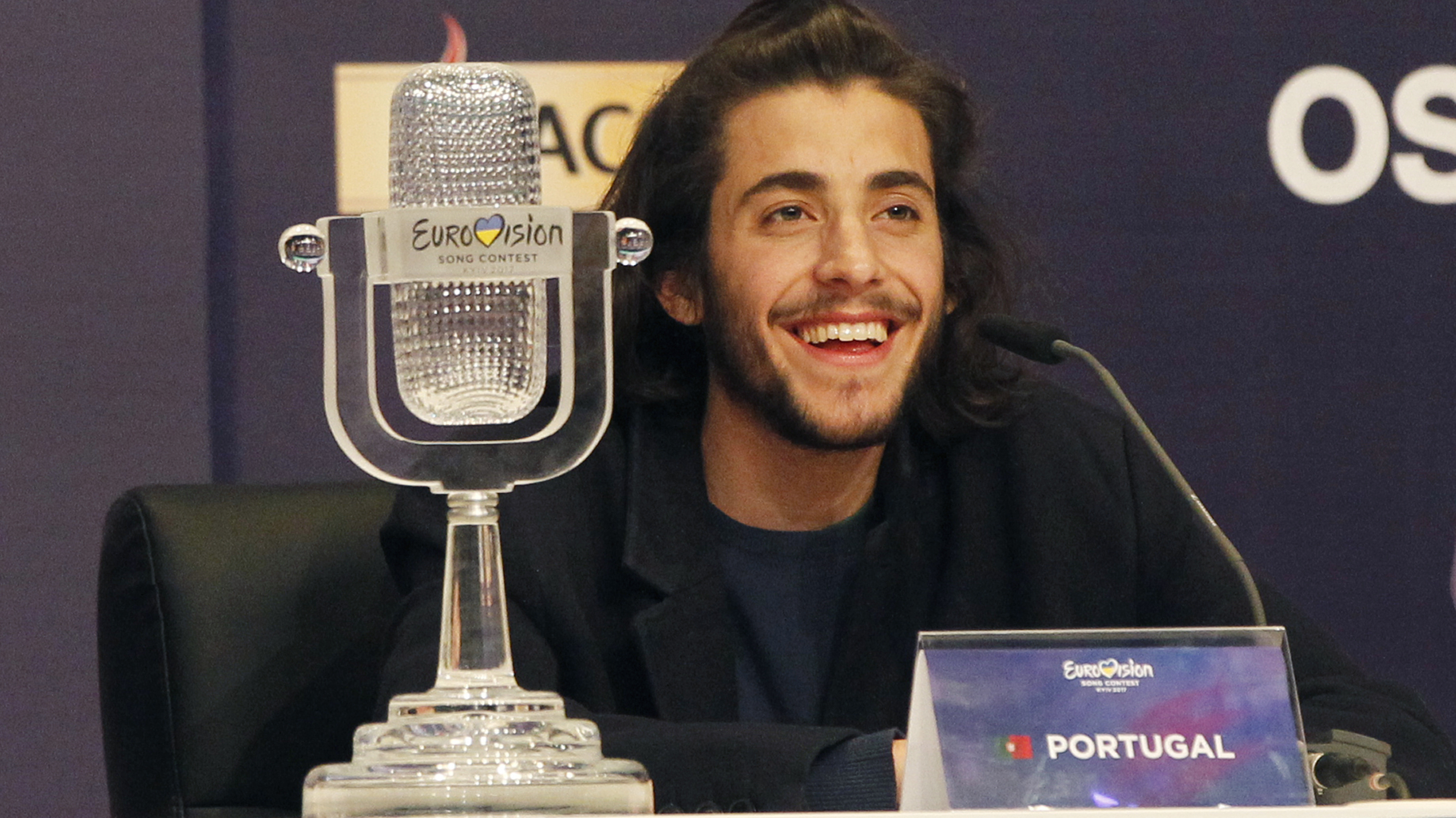 Salvador Sobral of Portugal wins 2017 Eurovision song contest in Kiev
