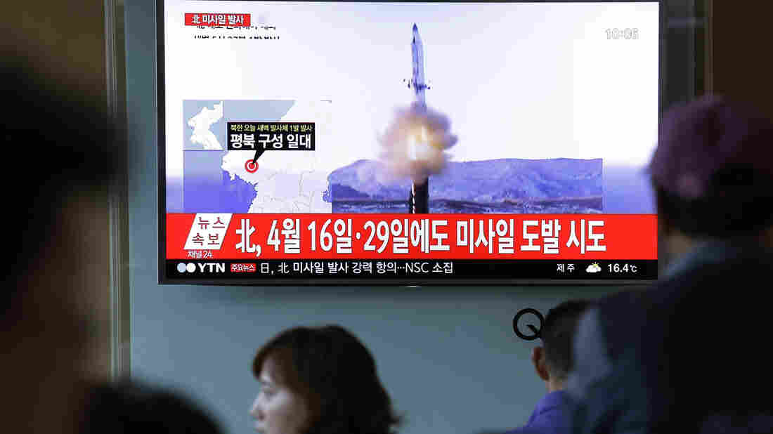 North Korea tests missile as South's new leader takes reins