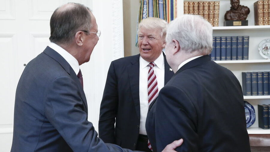 Image result for trump with russians in the white house